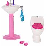 Barbie - Juego De Baño Play Set - De Mattel