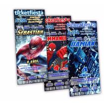 Diseño De Invitaciones Imprimibles Spiderman