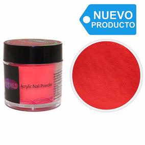 Polvo Acrílico Para Uñas Color Rojo Fuego Neón 7g Easynails