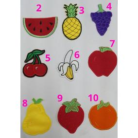 Aplicaciones Bordadas Para Pegar Con Plancha. Frutas Y Verdu