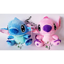 Pelucia Kit Lilo Stitch E Angel Disney Musical Frete Gratis