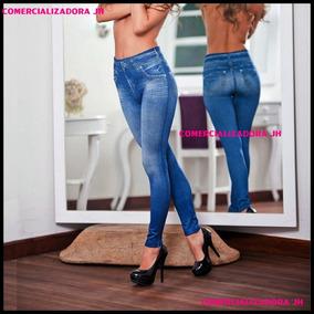 Leggins Jeans De Dama Brenda Usa Cierre Delantero