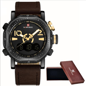 Relógio Luxo Militar Analógico Digital Masculino Quartzo