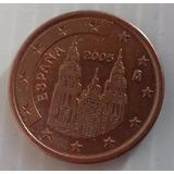 5 Cent Euro España Años 2004 2005 Monedas Km# 1042 C/u