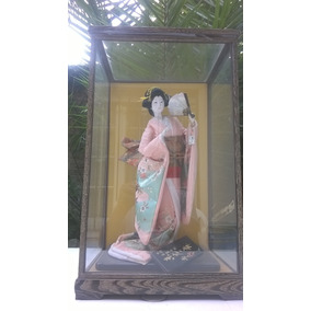 Geisha 45 Cm Japon +caja Exhibidora Devoto Hobbies
