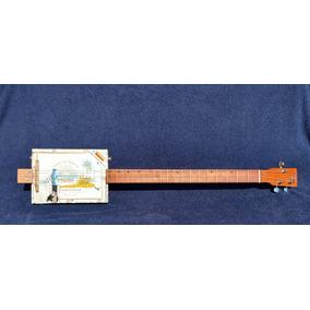 Cigar Box Guitar 3 Cordas Captação Single #101 (promoção)
