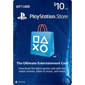 Playstation Gift Card, Tarjeta Prepago Psn $10