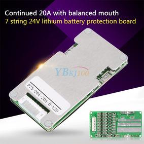 Bms 24v 7s 20a Circuito De Proteção Bateria Lithium 18650