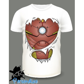 Camiseta Personalizada Rasgo Homem De Ferro 3d 79ba36247b8e5