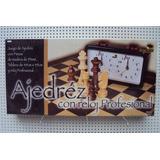 Ajedrez Con Reloj Profesional Madera