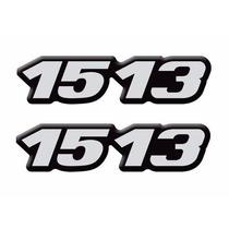 Par Emblema 1513 Lateral Mercedes Mb Caminhão - Adesivo