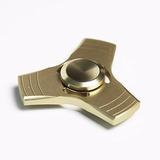 Fidget Spinner Metalico Antiestres Dorado Con Estuche