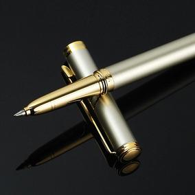 Caneta Esferográfica De Metal Dourada