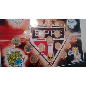 Coleção Completa Com Bandeira Rp Foliada A Ouro