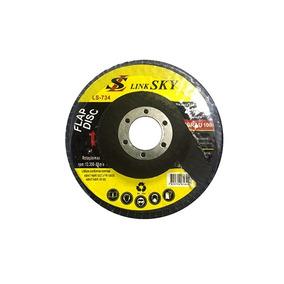 Kit 5 Disco Flap 4.1/2 Pol Para Lixadeira Gr 80