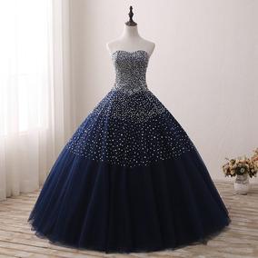 Vestido Noiva Azul Marinho 34 36 38 40 42 44 46 48 - Vs00251
