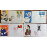 Japon 1968-1971 Series Postales En 4 Sobres Fdc Primer Dia