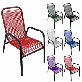 Poltrona De Varanda Safira Cadeira De Área De Fio Colorido