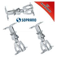 Prende Porta Fixador Porta Parede Soprano Metal Kit 03 Unds