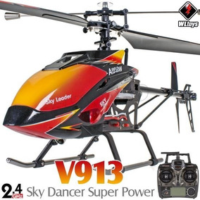 Helicóptero V913 Heli Completo Rc 2.4ghz 4 Canal Wltoys 70cm