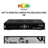 Kit De Tv Satelital Azclass S1000 Iks Privado