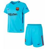 Kit Conjunto Infantil Barcelona - Unif. 2 - Camisa + Short