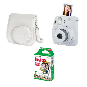 Kit Câmera Instantânea Fujifilm Instaxmini9 C/ Bolsa E Filme