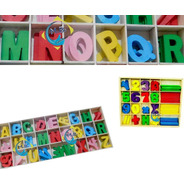 130 Letras Abc Madera + 2 Juegos Numeros Matematica Niños