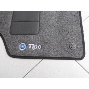 Tapete Fiat Tipo Em Carpete Com 5 Peças Logo Azul