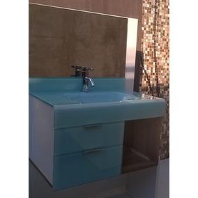 Pia P/ Banheiro Lavatório Em Vidro Stetiun 60 X 46cm Branco