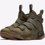 Tênis Nike Lebron Soldier 11 X Sfg Olive Camuflado Exercito