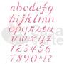 Stencil Plástico P/ Pintura Opa 20x25cm Alfabeto Minúsculo