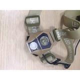 Kit Lanterna De Cabeça + Swat + Adaptador + Talher Inox 4d