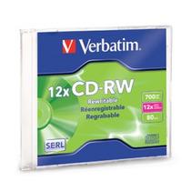 Disco Cd-r Verbatim, Cd-rw, 700 Mb, 1, 12x, 80 Min