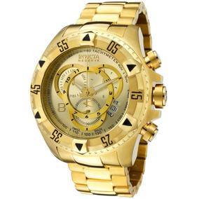 Relógio Invicta Excursion 6471 Dourado Na Maleta Da Marca