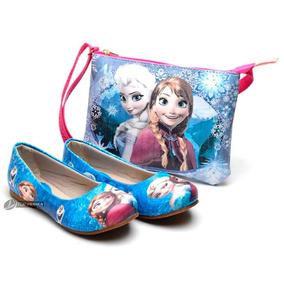 Kit Sapatilha Menina Infantil Disney Frozen, Peppa Monster