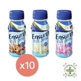 Ensure Plus Drink 237 X 10 Vainilla Frutilla Chocolate