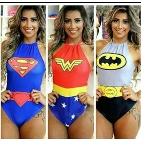 Body Personagem Batman Mulher Maravilha Super Man Herois