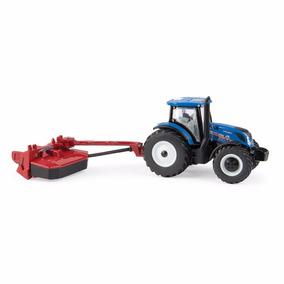 Miniatura Trator New Holland T6.175 + Roçadeira H7230 - 1/64