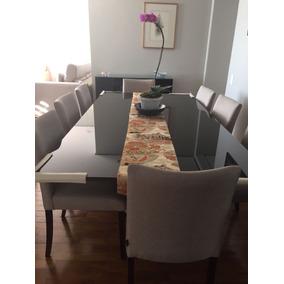 Conjunto De Mesa E Cadeiras (8) Para Sala De Jantar