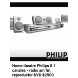 Home Theatre Philips 5.1 Radio Am/fm Reproductor Dvd