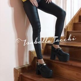 Zapatos Altos Plataforma Base Taco Mujer Nuevos Invierno 17
