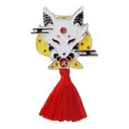 Pin Kitsune Y Conejo, Tradicional Japones
