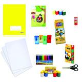 Kit Material Escolar Volta As Aulas Cadernos Brochura Lapis