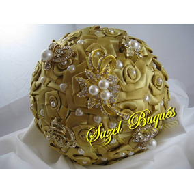 Buquê De Noiva Dourado