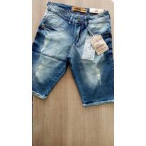 Bermuda Jeans Masculina Jhon Jhon Com Lycra 1102 Original!