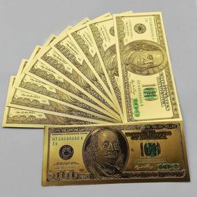 Ee Uu 100 Dolares Baño Oro ( Replica) Imperdible Vea