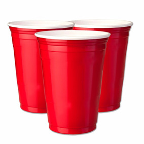 50un Red Cup Copos Americanos, Copo Vermelho 400ml