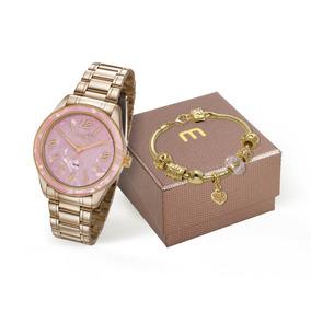 Relógio Mondaine Original Dourado 99277lpmkde1k1 + Pulseira