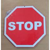 Placa Decorativa Mdf Stop Imita Trânsito Rua Garagem Parede